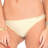 Luli Fama Drawstring Back Scrunch Bottom In Gold Rush (L176536)