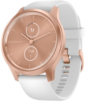 Garmin Unisex vivomove Style White Silicone Strap Touchscreen Hybrid Smart Watch 42mm