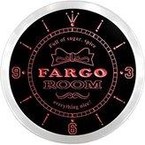 AdvPro Clock ncpe2304-r Fargo Girl Princess Kids Room Night Light Neon Sign LED Wall Clock