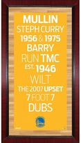 "Steiner Sports Golden State Warriors 32"" x 16"" Vintage Subway Sign"
