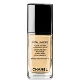 Chanel Vitalumière, Moisture-Rich Radiance Sunscreen Fluid Makeup Broad Spectrum Spf 15