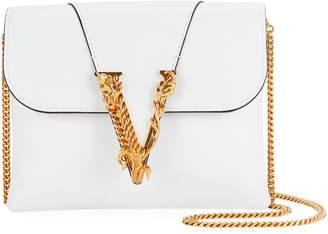 Versace Virtus Leather Evening Shoulder Bag