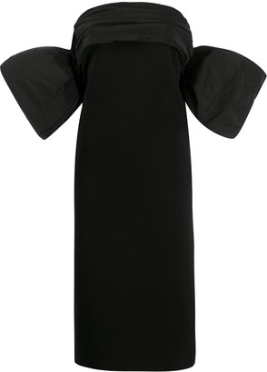 Givenchy Strapless Exaggerated Sleeved Dress