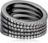 Noir Audley Stackable Ring, Size 7