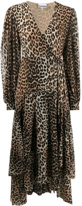 Ganni Leopard Print Dress