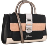GUESS Astrella Small Satchel (Black Multi) - Bags and Luggage