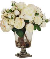 """Winward Silks 14"""" Rose Arrangement in Vase - Faux"""