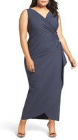 Alex Evenings Embellished Side Ruched Gown (Plus Size)