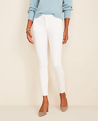 Ann Taylor Petite Curvy Sculpting Pocket Skinny Jeans In White