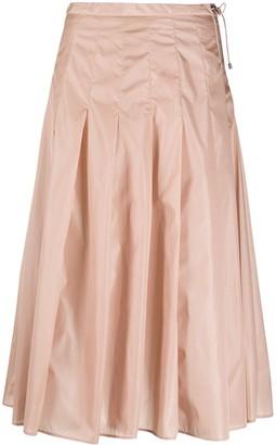 Moncler High-Waist Pleated Skirt