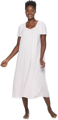 Petite Miss Elaine Essentials Short Sleeve Night Gown