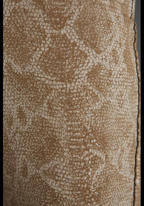 Bleu Lab BLEULAB Reversible Detour Novelty Legging in Cafe Snake Print/Latte Coating