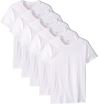 Hanes Core Cotton Crew Neck Tee Pack (White) Men's Clothing