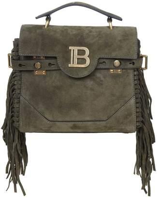 Balmain Handbag B-buzz 23 In Suede Green