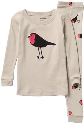 Leveret Bird Pajama Set (Toddler, Little Girls, & Big Girls)