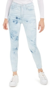 Celebrity Pink Juniors' Ripped Acid-Wash Skinny Ankle Jeans