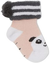 bonniemob Baby Bootie Panda Socks, Light Pink