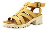 Mia Nadie Women Open Toe Synthetic Tan Sandals.