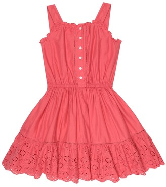 Polo Ralph Lauren Kids Broderie-anglaise cotton dress