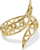 Noir Spliced gold-tone ring