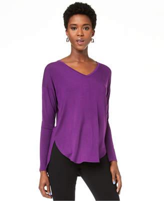 INC International Concepts Inc V-Neck Curved-Hem T-Shirt