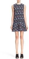 Tanya Taylor 'Adalia' Floral Print Crepe Drop Waist Dress