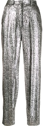 Christopher Kane Sequin Snake Print Trousers