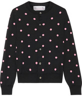 Comme des Garcons Intarsia Wool-blend Cardigan - Black