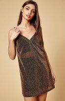 Reverse Moonlit Metallic Sheer Dress