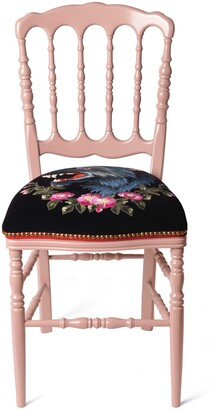 Gucci Wood chair with wolf