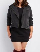 Charlotte Russe Plus Size Denim Moto Jacket
