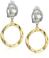 T Tahari Drop Ring Clip Earrings