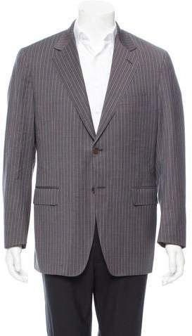 Canali Wool Stripe Two-Button Blazer