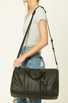 Forever 21 FOREVER 21+ Faux Leather Travel Bag
