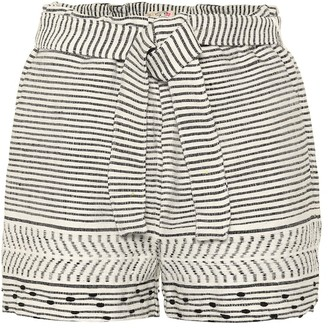 Lemlem Maya striped cotton-blend shorts