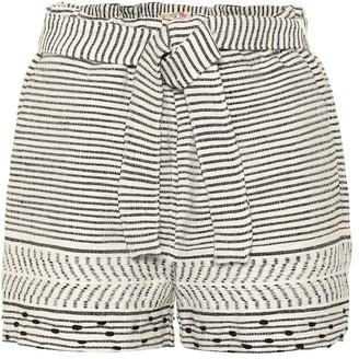 Lemlem Maya striped cotton-blend shorts