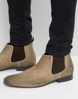 Base London Broker Suede Chelsea Boots