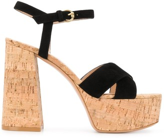 Gianvito Rossi Cork Platform Sandals