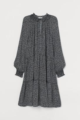H&M Tie-detail Dress - Black