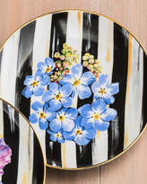Mackenzie Childs MacKenzie-Childs Forget-Me-Not Thistle & Bee Salad Plate