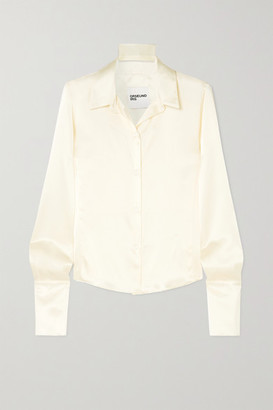 Orseund Iris Silk-satin Shirt - Cream