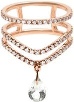 Diane Kordas Diamond, prasiolite & rose-gold Cosmos ring