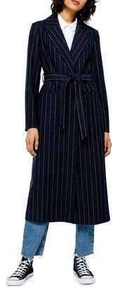 Topshop Bunty Stripe Coat