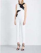 Antonio Berardi Geometric-print crepe jumpsuit