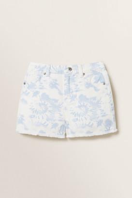 Seed Heritage Tie Dye Denim Boyfriend Shorts