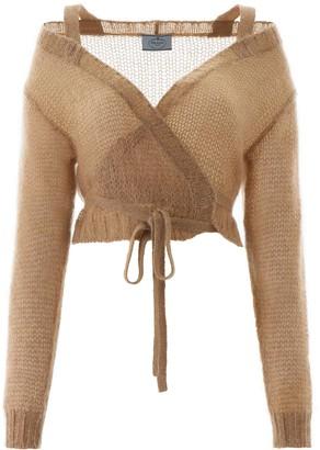 Prada Crochet Wrap Cardigan