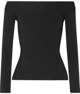 Roland Mouret Tasso Off-the-shoulder Stretch-knit Top - Black
