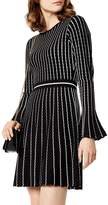 Karen Millen Micro Stripe Stitch Knit Dress