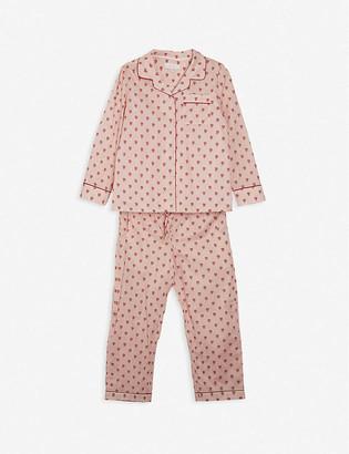 Little Yolke Queen of Hearts cotton pyjama set 3-12 years