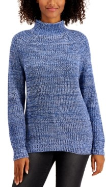 Style&Co. Style & Co Plus Size Funnel-Neck Sweater, Created For Macy's